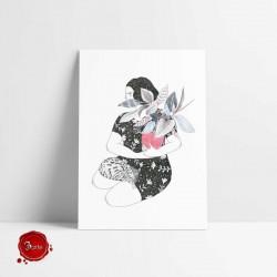 Ilustração Girl with a...