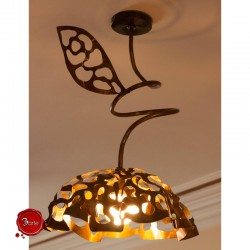 Copper ceiling lamp