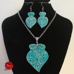 Ceramic necklace and earrings